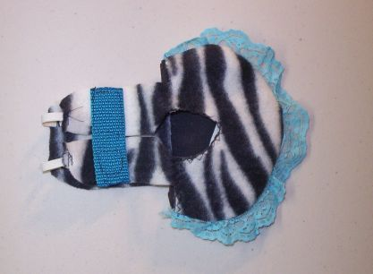 Blue w/ Zebra Print Chicken Diaper