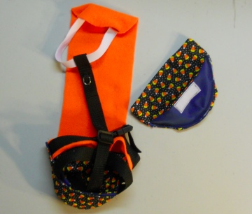 Candy Corn Goose Diaper Holder Harness 2